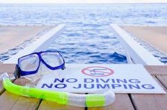 没有潜水没有跳跃 库存照片