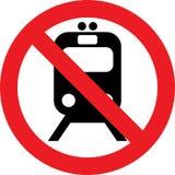 没有火车标志 图库摄影
