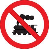 没有火车标志 免版税库存照片