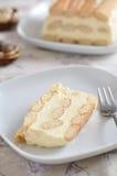 没有烘烤乳酪蛋糕 免版税库存图片