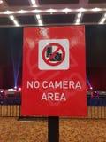 没有照相机区域 库存照片