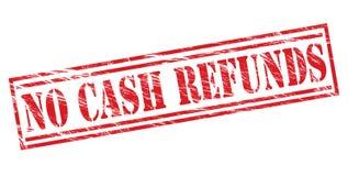 没有现金退款红色邮票 免版税库存照片