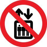 没有电梯标志 库存图片