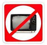 没有电视 免版税图库摄影
