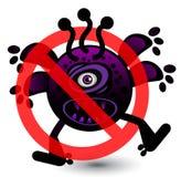 没有病毒动画片例证 免版税库存照片