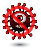 没有病毒动画片例证 库存照片