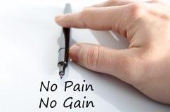 没有痛苦没有获取文本概念 库存照片