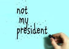 没有白垩煤炭做的我的总统题字 免版税库存照片