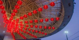 没有的旧历新年的一盏红色中国灯 5 免版税库存照片