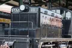 没有的PM 11个Pere Marquette铁路GM-EMD模型SW-1 库存照片