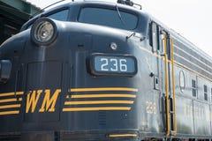 没有的WM 236西部马里兰铁路GM-EMD,式样F-7A,内燃机车 库存图片