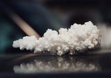 没有盐胡椒水晶的盐  免版税库存图片
