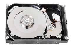 没有盖子的内部sata硬盘驱动器箱子 免版税库存图片