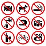 没有禁止停车牌 免版税库存照片