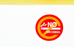 没有符号抽烟 免版税库存照片
