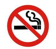 没有符号抽烟 免版税库存图片