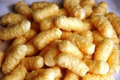 没有糖和面筋的大玉米棍子 食物变态反应原概念,自由的面筋 库存照片