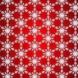 没有缝的样式从白色雪花 库存例证