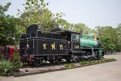 没有老的蒸汽机车 340泰国的状态铁路 免版税库存照片