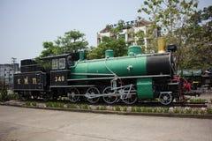 没有老的蒸汽机车 340泰国的状态铁路 库存照片