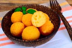 没有肉的食物:土豆油炸圈饼 图库摄影