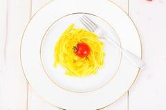 没有肉的食物:意粉 图库摄影