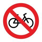 没有自行车允许的标志 向量例证
