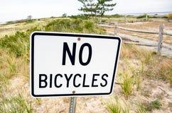 没有自行车白色标志 免版税库存图片