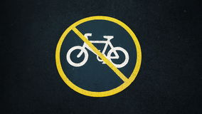 没有自行车符号 免版税库存图片