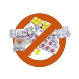 没有药物 免版税库存图片