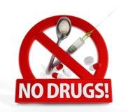 没有药物 向量例证