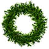 没有装饰的圣诞节花圈 免版税图库摄影