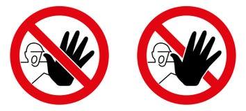 没有越权存取标志 有黑手党stopp的叫喊的人 向量例证