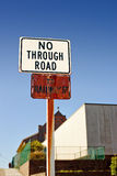 没有路标 免版税库存图片