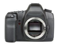 没有透镜的现代数字式SLR照相机 库存照片