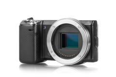 没有透镜的Mirrorless照相机 免版税库存照片