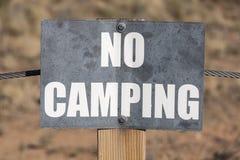 没有野营的标志 库存照片