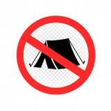 没有野营的集合标志象标志 库存例证