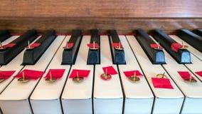 没有钢琴音乐 免版税库存图片