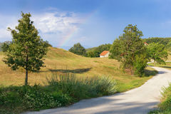 没有雨的彩虹 黑山 免版税库存照片