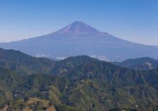 没有雪的山富士 库存照片