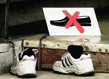 没有鞋子 免版税库存照片