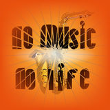 没有音乐没有生活 免版税库存照片