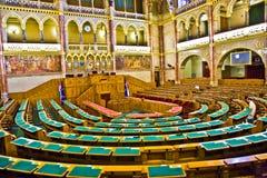 没有预备会议的里面著名匈牙利议会 免版税库存图片