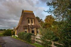 没有风帆的被更新的荷兰风车 免版税库存照片