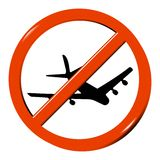 没有飞机 免版税库存照片