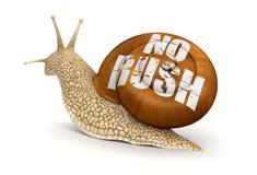 没有仓促蜗牛(包括的裁减路线) 库存照片