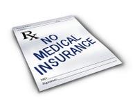没有医疗保险 免版税库存图片