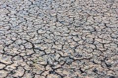 没有水的破裂的干陆 抽象背景 免版税库存照片