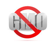 没有gmo标志例证设计 免版税库存照片